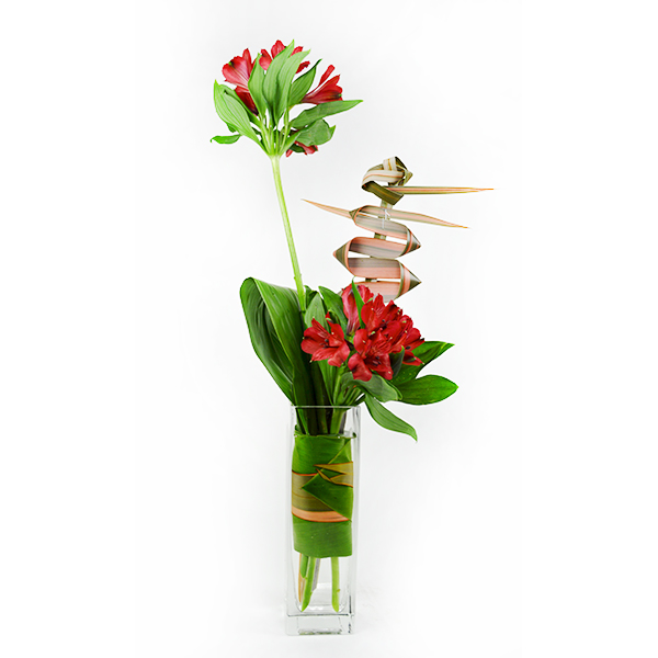 Red Bird Flower Arrangement